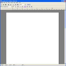 BanglaSoftware Group. BanglaWord  processor software screen grab: Basic screen